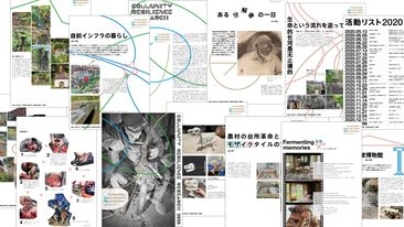 Composition,Decomposition,Recomposition 根尾の分解者たち(Community Resilience Research 2020)イメージ