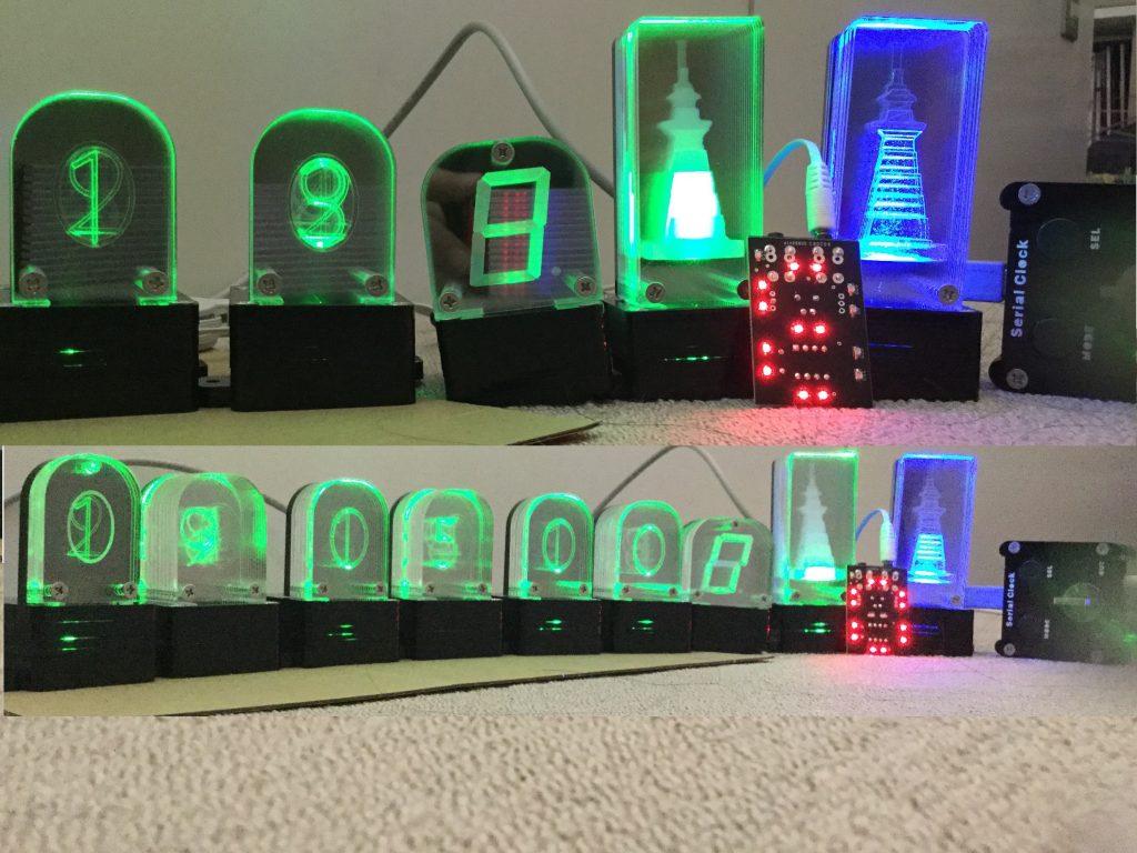 アクリル加工と光で作る表示器・パネル作品