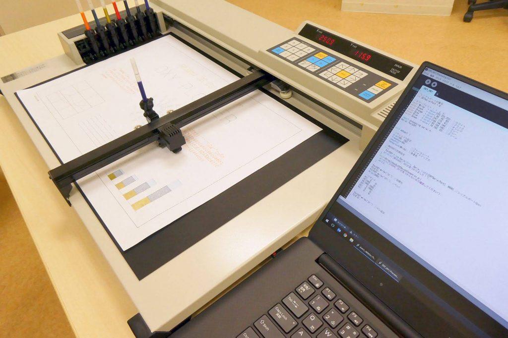 30年前のペンプロッターをProcessingで動かす