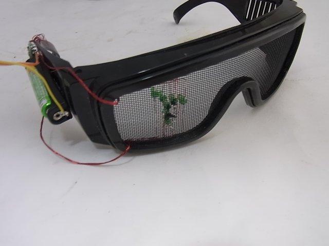 メガネ形の簡易AR HMD